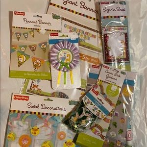 Baby shower decorations animals all genders kit